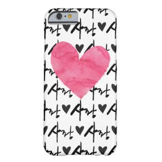 Capa Barely There Para iPhone 6 Caso do coração do rosa do amor de Sarang -