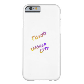 Capa Barely There Para iPhone 6 Cidade do mundo de Tokyo, arte colorida do texto