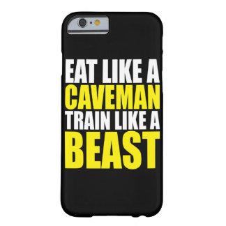 Capa Barely There Para iPhone 6 Coma como um homem das cavernas, trem como um