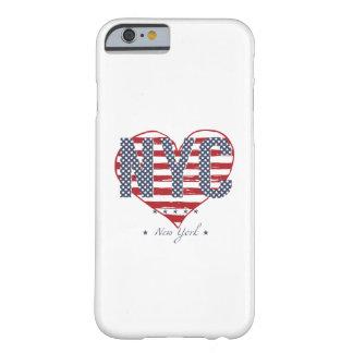 Capa Barely There Para iPhone 6 Coração da bandeira americana de NYC