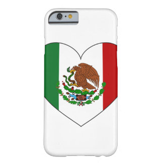 Capa Barely There Para iPhone 6 Coração da bandeira de México