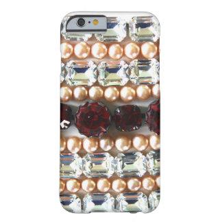 Capa Barely There Para iPhone 6 Cristais de rocha e pérolas - jóia do vintage