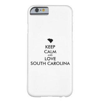 Capa Barely There Para iPhone 6 Customizável MANTENHA A CALMA e AME SOUTH CAROLINA