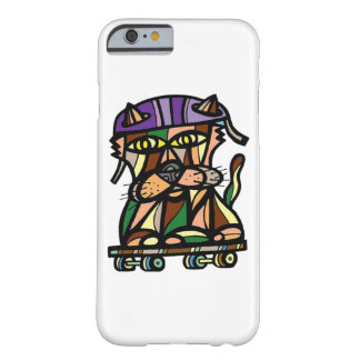 "Capa Barely There Para iPhone 6 Do ""capa de telefone lustrosa do Kat patinador"""