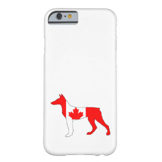 Capa Barely There Para iPhone 6 Doberman Canadá