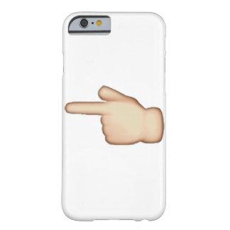 Capa Barely There Para iPhone 6 Emoji - índice apontando esquerdo branco dos revés