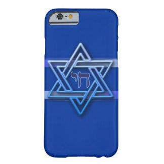 Capa Barely There Para iPhone 6 Estrela de David judaica de Chai do hebraico