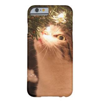 Capa Barely There Para iPhone 6 Gatos e luzes - gato do Natal - árvore de Natal