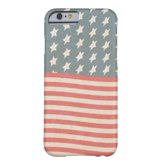 Capa Barely There Para iPhone 6 Grunge da bandeira dos Estados Unidos do vintage