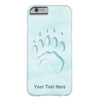 Capa Barely There Para iPhone 6 Impressão da pata de urso polar