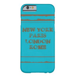Capa Barely There Para iPhone 6 iPhone 6, Barely There NEW YORK PARIS LONDON ROME