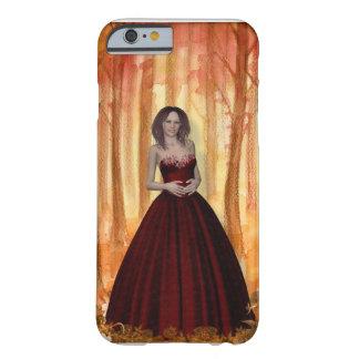 Capa Barely There Para iPhone 6 iPhone vermelho 6/6s do vestido da menina da