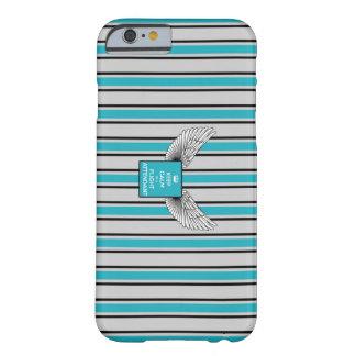 Capa Barely There Para iPhone 6 Kciafa retro gray and blue with stripes