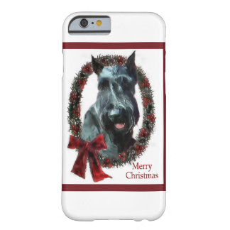 Capa Barely There Para iPhone 6 Natal do Schnauzer gigante