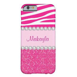 Capa Barely There Para iPhone 6 O brilho cor-de-rosa feito sob encomenda Sparkles