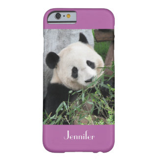 Capa Barely There Para iPhone 6 panda gigante do caso do iPhone 6, roxo, orquídea