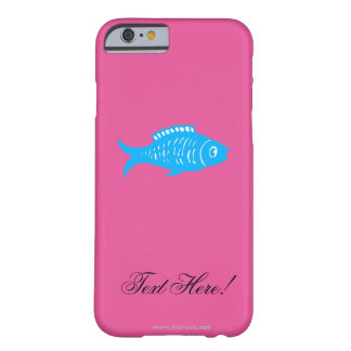 Capa Barely There Para iPhone 6 Peixes azuis