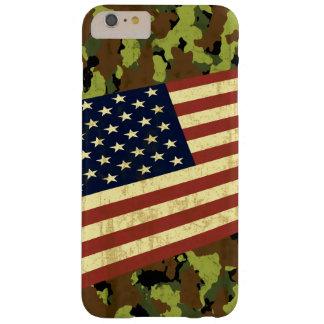 Capa Barely There Para iPhone 6 Plus Bandeira americana Camo