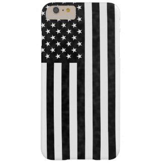 Capa Barely There Para iPhone 6 Plus Bandeira americana do vintage preto e branco do