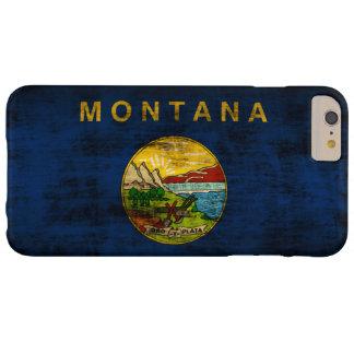 Capa Barely There Para iPhone 6 Plus Bandeira do estado do Grunge do vintage de Montana