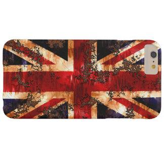 Capa Barely There Para iPhone 6 Plus Bandeira patriótica oxidada de Reino Unido