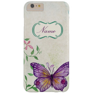 Capa Barely There Para iPhone 6 Plus Borboleta do vintage floral