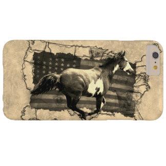 Capa Barely There Para iPhone 6 Plus Cavalo de galope dos EUA Pony Express da pintura