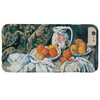 Capa Barely There Para iPhone 6 Plus De Cezanne cortina da vida ainda, jarro