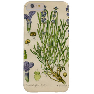 Capa Barely There Para iPhone 6 Plus iPhone botânico do impressão da lavanda do vintage