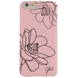 Capa Barely There Para iPhone 6 Plus iPhone floral chique 6/6S do monograma mais o caso