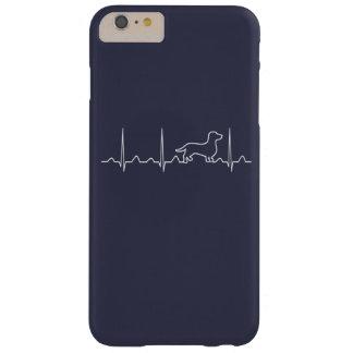 Capa Barely There Para iPhone 6 Plus Pulsação do coração do Dachshund