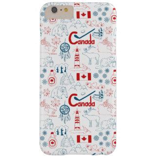 Capa Barely There Para iPhone 6 Plus Teste padrão dos símbolos de Canadá |
