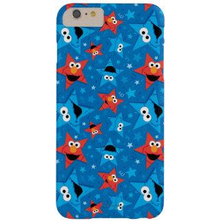 Capa Barely There Para iPhone 6 Plus Teste padrão patriótico de Elmo e de monstro do