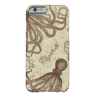 Capa Barely There Para iPhone 6 Polvo de Brown do vintage com as âncoras