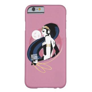 Capa Barely There Para iPhone 6 Pop art do perfil da mulher maravilha da liga de