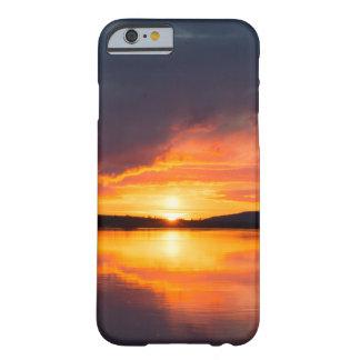 Capa Barely There Para iPhone 6 Por do sol de Lapland