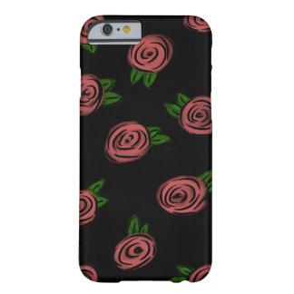 Capa Barely There Para iPhone 6 Preto cómico dos rosas
