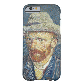 Capa Barely There Para iPhone 6 Retrato de auto de Vincent van Gogh | com chapéu