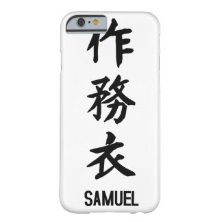 "Capa Barely There Para iPhone 6 ""SAMUEL"" no Kanji"
