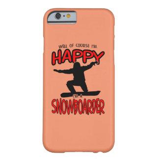 Capa Barely There Para iPhone 6 SNOWBOARDER feliz (preto)