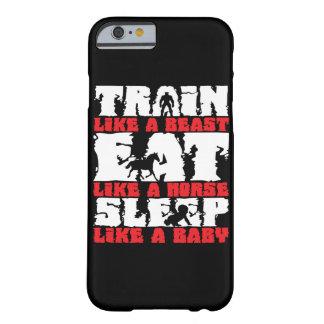 Capa Barely There Para iPhone 6 Trem como um animal - Gym e motivação da malhação