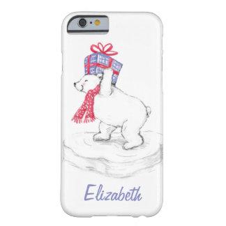 Capa Barely There Para iPhone 6 Urso polar dos desenhos animados bonitos com