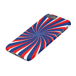 Capa Barely There Para iPhone 6 Vermelho branco azul espiral…
