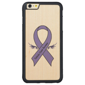 Capa Bumper Para iPhone 6 Plus De Bordo, Carved Consciência do cancer Testicular