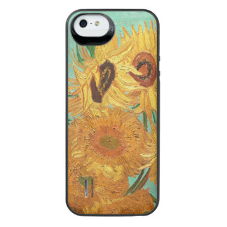 Capa Carregador Para iPhone SE/5/5s Vincent van Gogh doze girassóis em um vaso