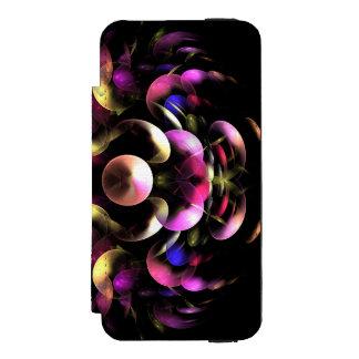 Capa Carteira Incipio Watson™ Para iPhone 5 Arte abstrata colorida do Fractal
