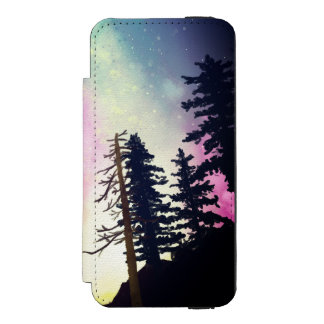 Capa Carteira Incipio Watson™ Para iPhone 5 Céu nocturno bonito que brilha até os céus