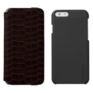 Capa Carteira Incipio Watson™ Para iPhone 6 Caixa 4b do couro da pele de cobra -