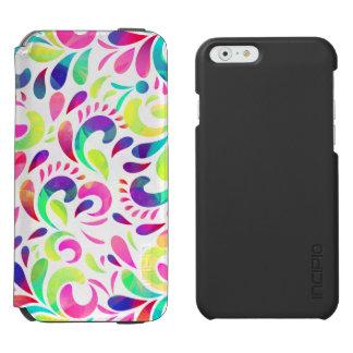 Capa Carteira Incipio Watson™ Para iPhone 6 Explosão de cor festiva do carnaval da