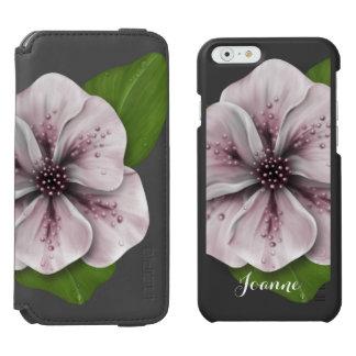 Capa Carteira Incipio Watson™ Para iPhone 6 Floral cor-de-rosa retro